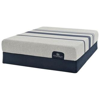iComfort Blue 100 Queen Mattress w/Low Foundation by Serta