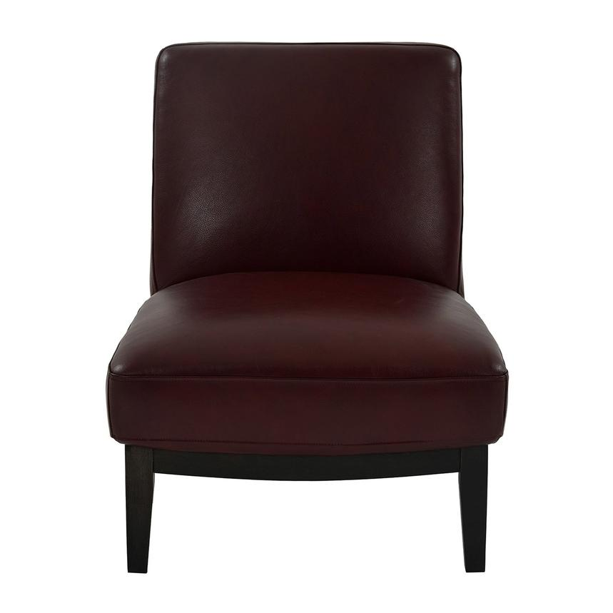 Nana Red Leather Accent Chair  main image, 1 of 8 images.