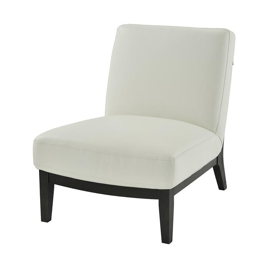 Nana White Leather Accent Chair  main image, 1 of 6 images.