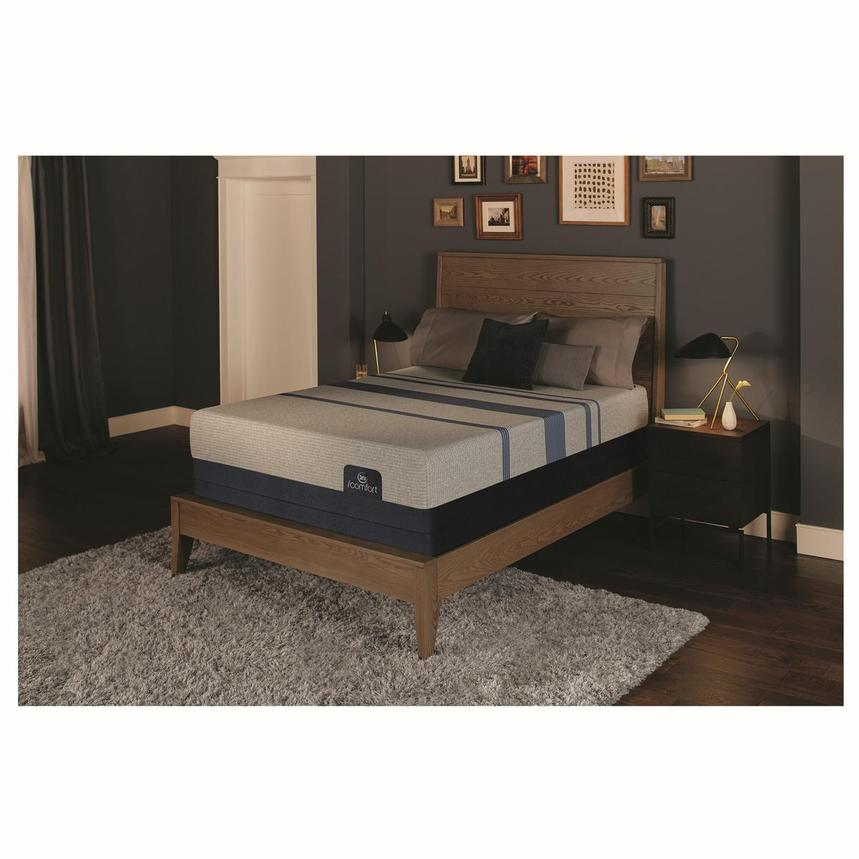 iComfort Blue Max 1000 Plush Queen Mattress w/Regular Foundation by Serta  alternate image, 2 of 4 images.