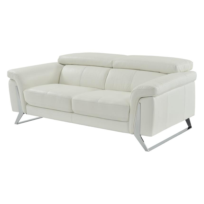 Odette White Leather Sofa  main image, 1 of 6 images.
