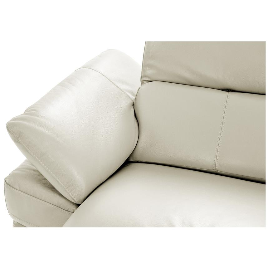 Toronto White Power Motion Leather Sofa w/Right Chaise  alternate image, 5 of 11 images.
