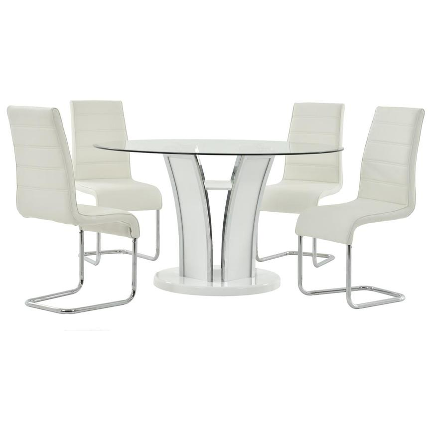 Dash White 5-Piece Casual Dining Set  main image, 1 of 8 images.