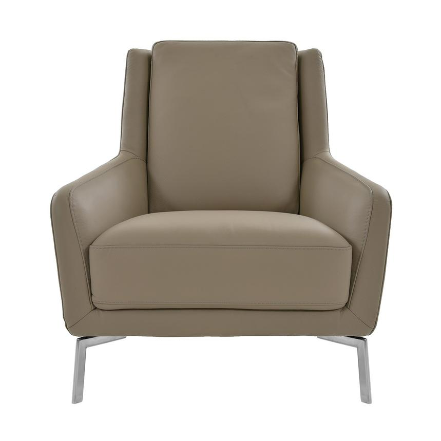 Puella Brown Leather Accent Chair Main Image 1 Of 7 Images