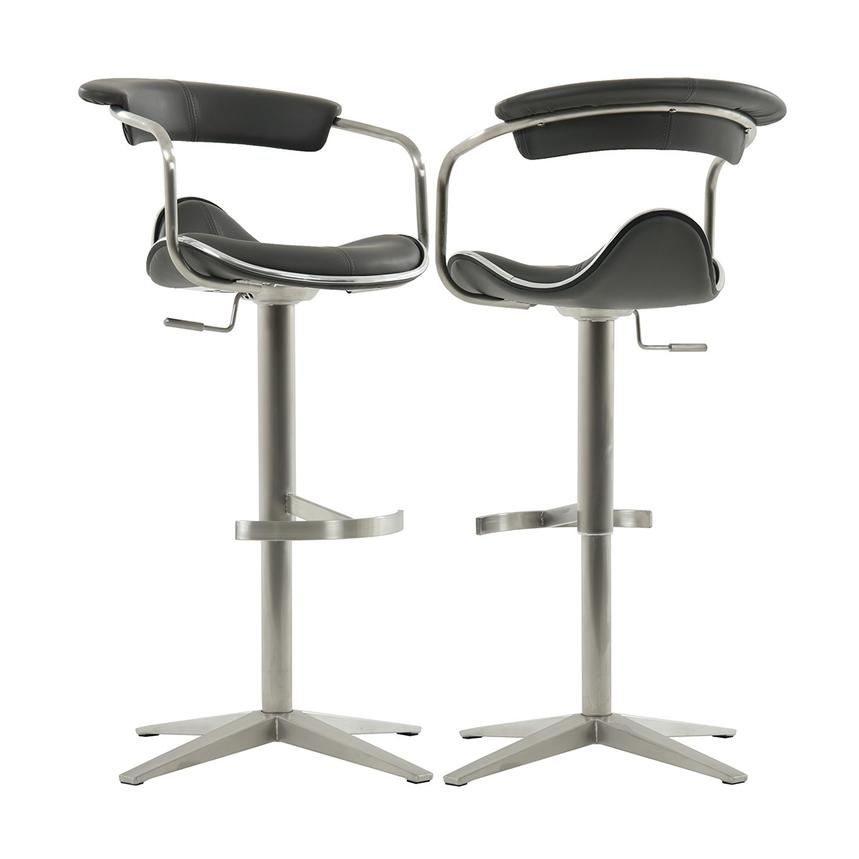 Primo Gray Adjustable Stool El Dorado Furniture