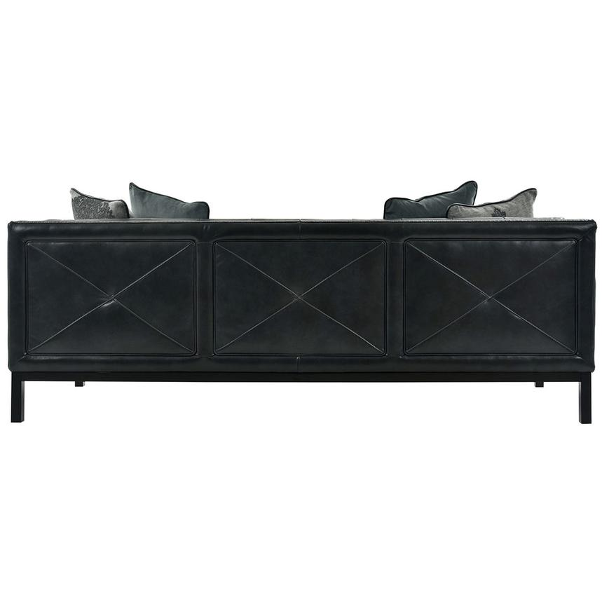 Sophia Black Leather Sofa  alternate image, 5 of 7 images.