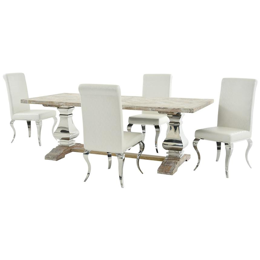Lesley/Lizbon 5-Piece Formal Dining Set  main image, 1 of 11 images.