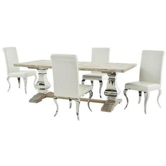 Lesley/Lizbon 5-Piece Formal Dining Set