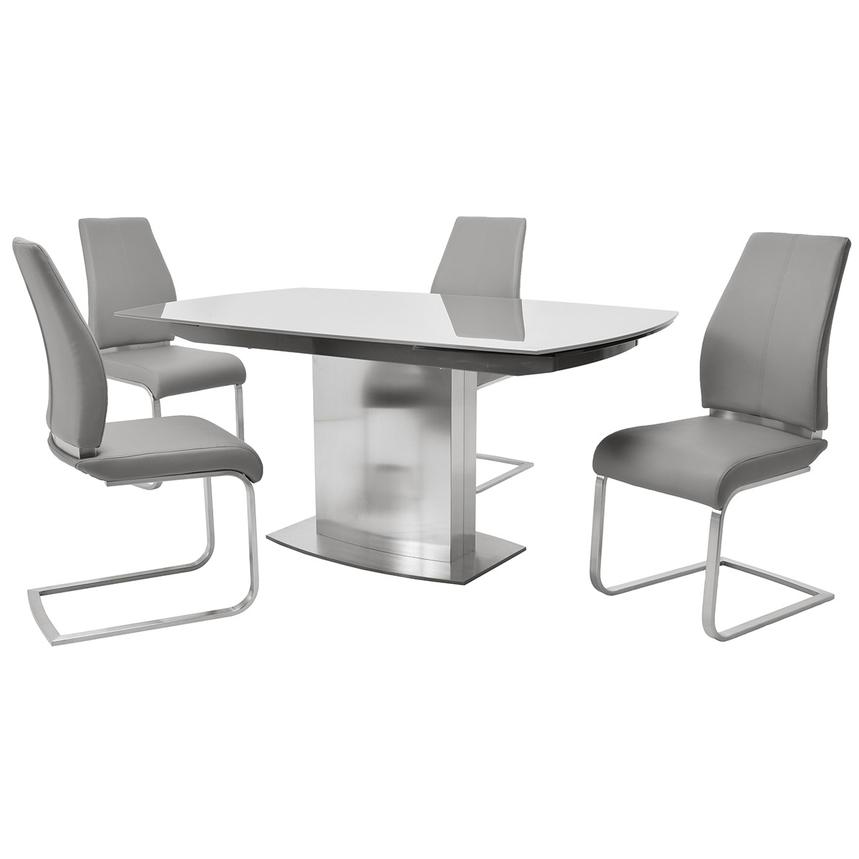 Mavis/Maday Gray 5-Piece Formal Dining Set  main image, 1 of 12 images.