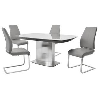 Mavis/Maday Gray 5-Piece Formal Dining Set