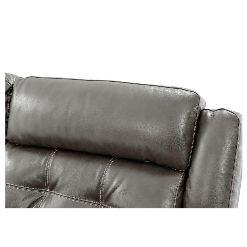 Stallion Gray Power Motion Leather Sofa w/Right & Left Recliners  alternate image, 5 of 10 images.