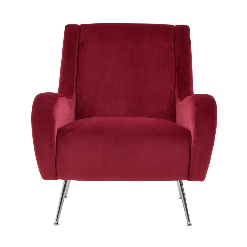 Morgan Red Accent Chair Main Image, 1 Of 7 Images.