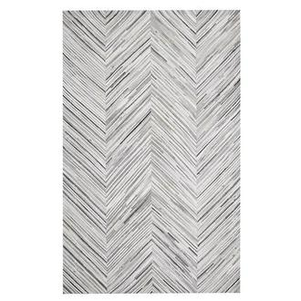 Texas Gray Cowhide Patchwork 5' x 8' Area Rug
