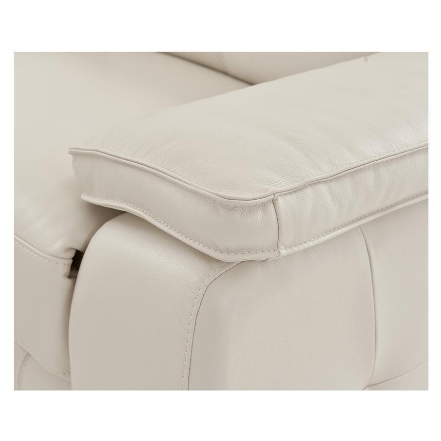Gian Marco Cream Oversized Leather Sofa El Dorado Furniture