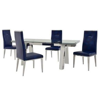 Madox/Hyde Blue 5-Piece Formal Dining Set