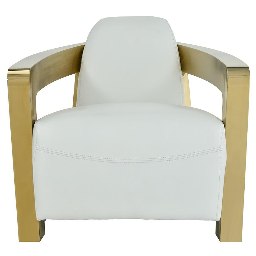 Aviator Gold Leather Accent Chair  main image, 1 of 7 images.