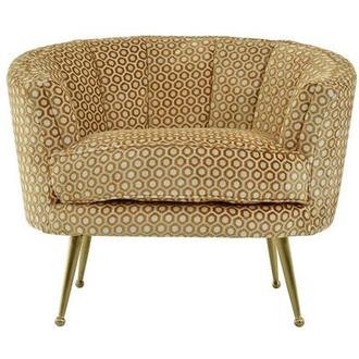 Zelda Gold Accent Chair