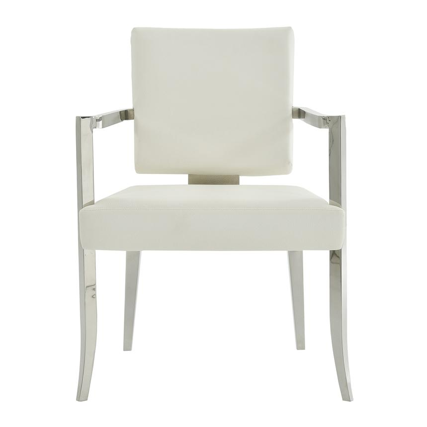Tina White Arm Chair  main image, 1 of 6 images.