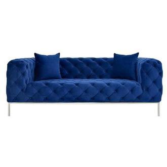 Crandon II Blue Loveseat