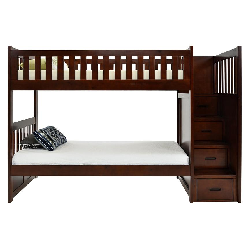 Balto Brown Twin Over Twin Bunk Bed W Storage El Dorado Furniture