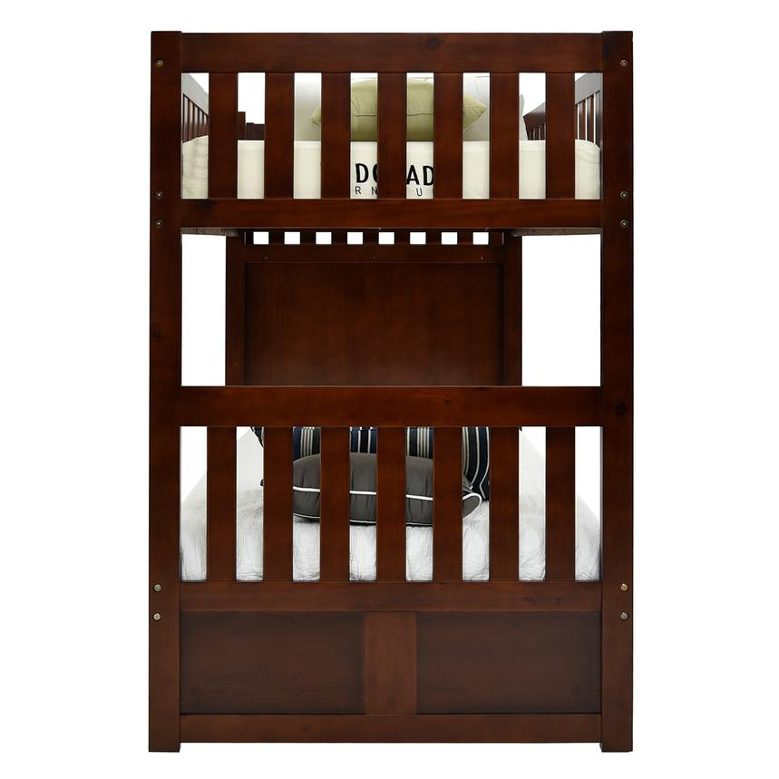 Balto Brown Twin Over Twin Bunk Bed w/Storage  alternate image, 5 of 7 images.