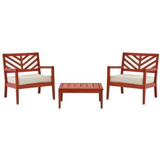 Nassau Red 3-Piece Patio Set Made in Brazil