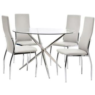 Patricia/Luna White 5-Piece Casual Dining Set