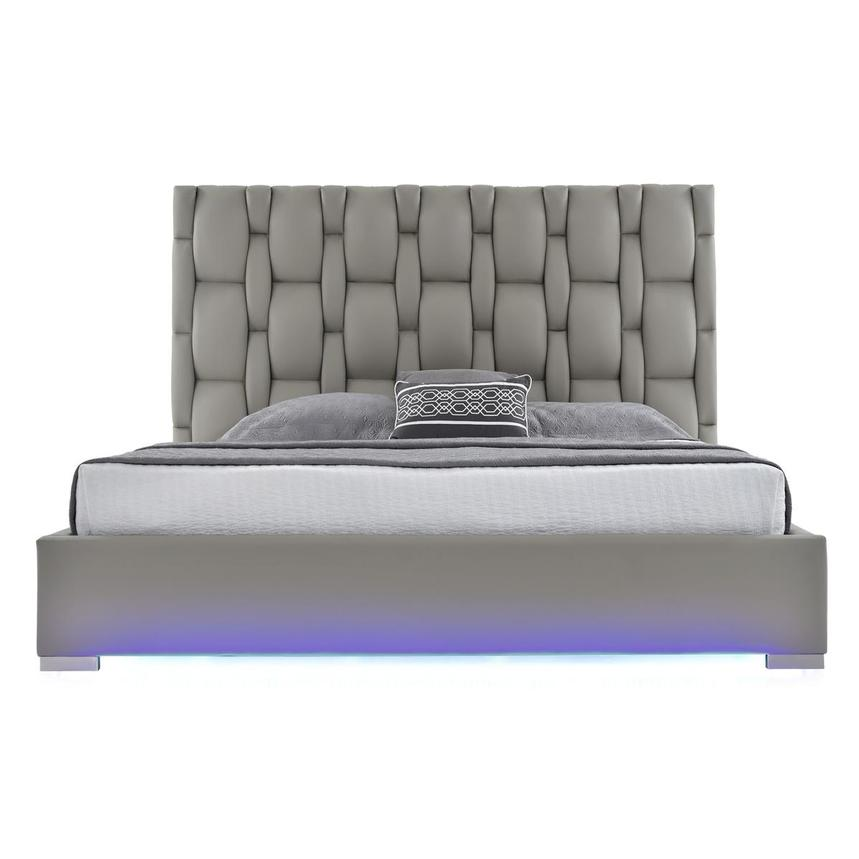 Livia Gray Queen Platform Bed  main image, 1 of 7 images.