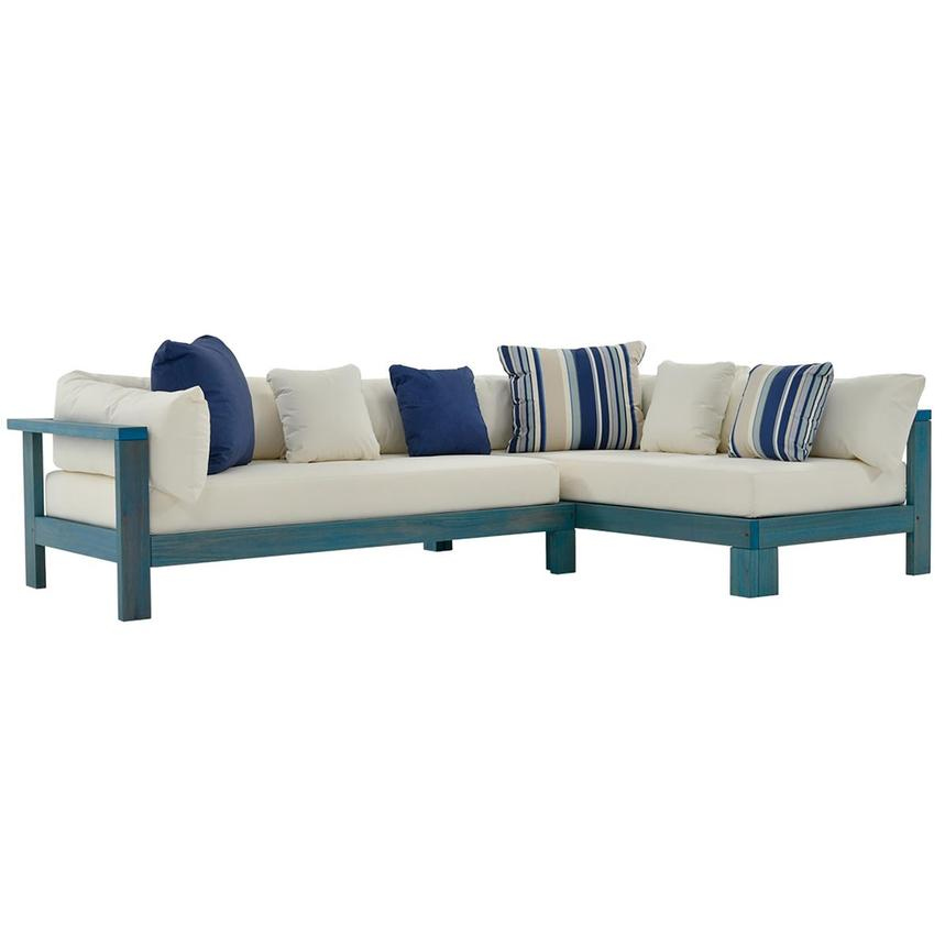 Jane Blue Sofa Made in Brazil  main image, 1 of 6 images.