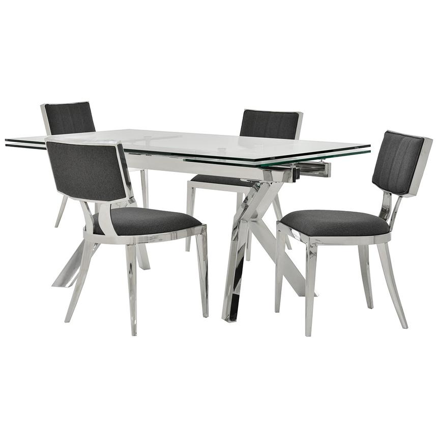 Lynne Clear/Martina II 5-Piece Formal Dining Set  main image, 1 of 14 images.