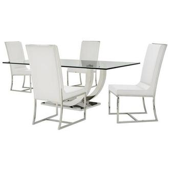 Ulysis/Sofitel White 5-Piece Formal Dining Set