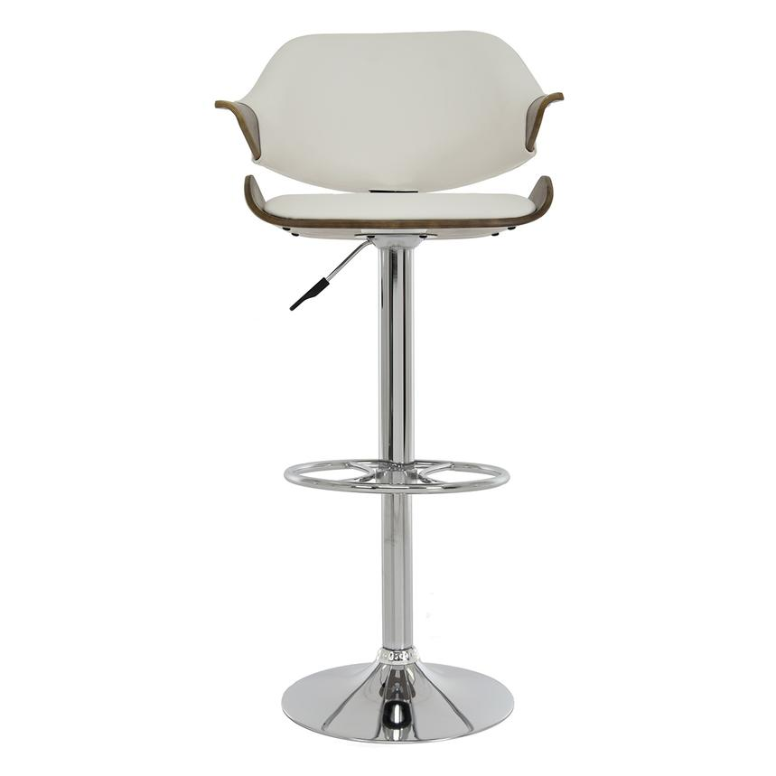 Chia White Adjustable Stool  main image, 1 of 8 images.