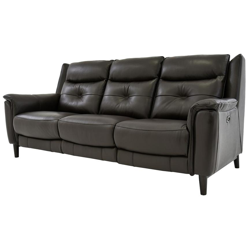 Yvette Brown Power Motion Leather Sofa Alternate Image, 2 Of 9 Images.