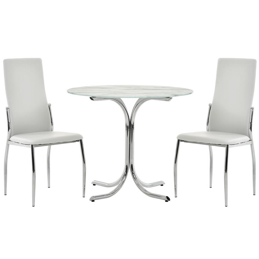 Dorothy/Luna White 3 Piece Casual Dining Set Main Image, 1 Of 12