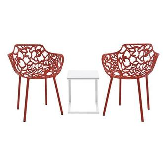 Mykonos/Rosie Red 3-Piece Patio Set