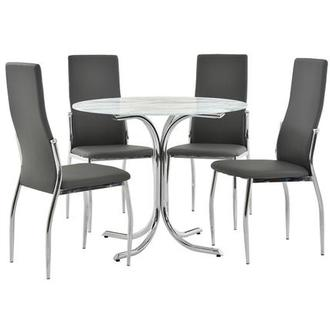Dorothy/Luna Gray 5-Piece Casual Dining Set