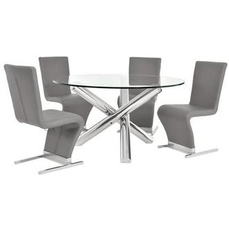 Star/Zoey Gray 5-Piece Formal Dining Set