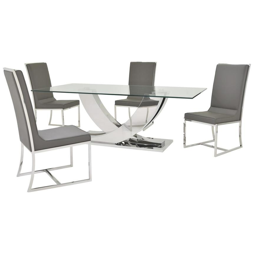 Sofitel Gray 5-Piece Formal Dining Set  main image, 1 of 12 images.