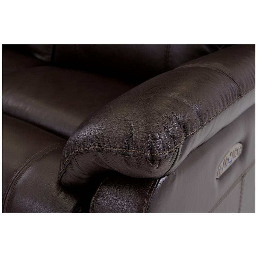 Ronald Brown Power Motion Leather Sofa w/Right & Left Recliners  alternate image, 5 of 6 images.