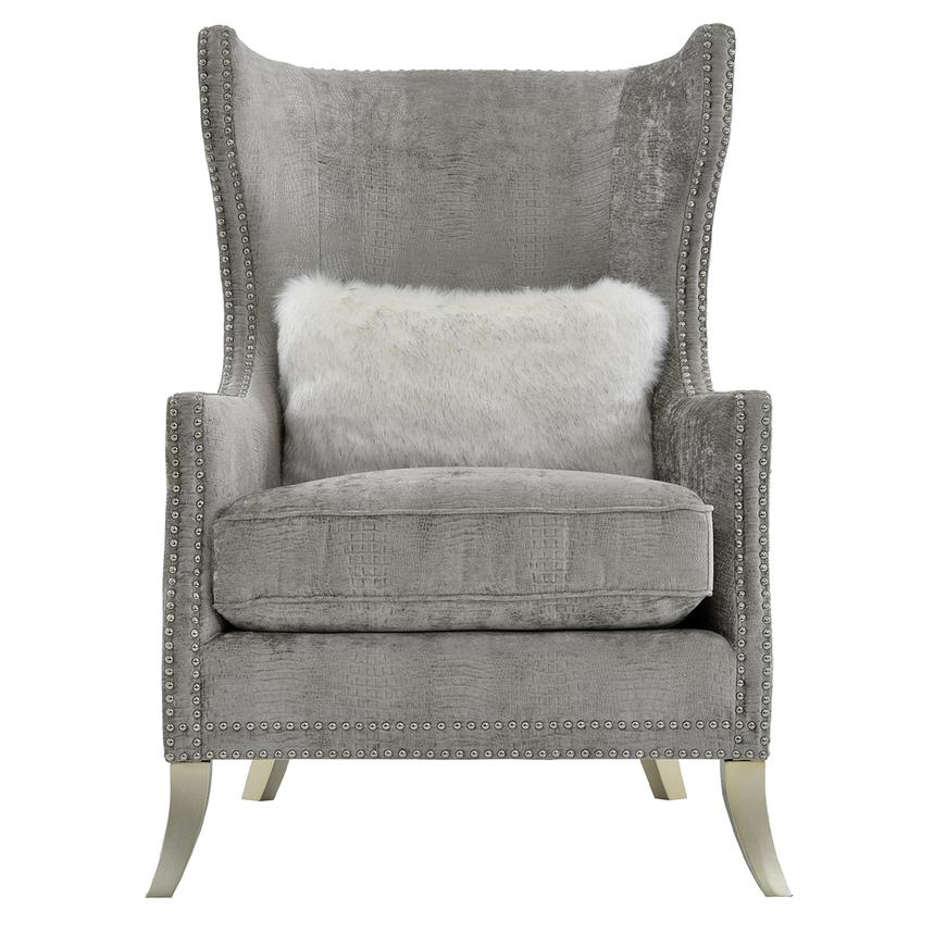 Sonia Gray Accent Chair  main image, 1 of 7 images.