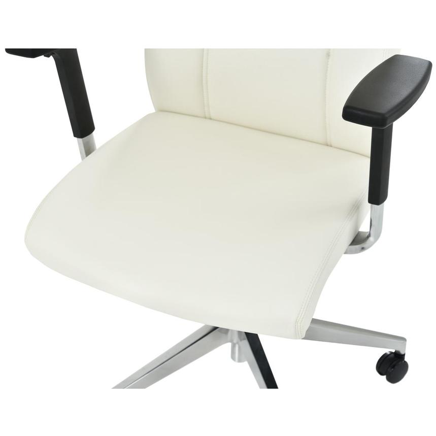 Regulo White Low Back Desk Chair El Dorado Furniture