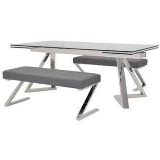 Suri/Jade Gray 3-Piece Formal Dining Set