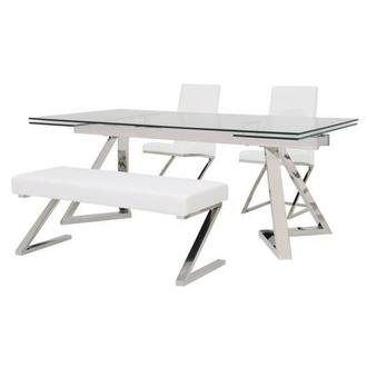 Suri/Jade White 4-Piece Formal Dining Set