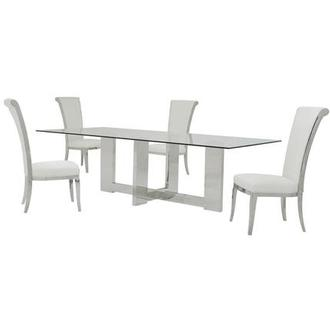 Opus/Joy White 5-Piece Formal Dining Set