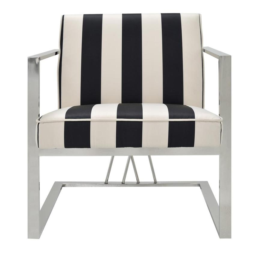 Fairmont Black/White Accent Chair Main Image, 1 Of 7 Images.