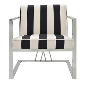 Fairmont Black/White Accent Chair