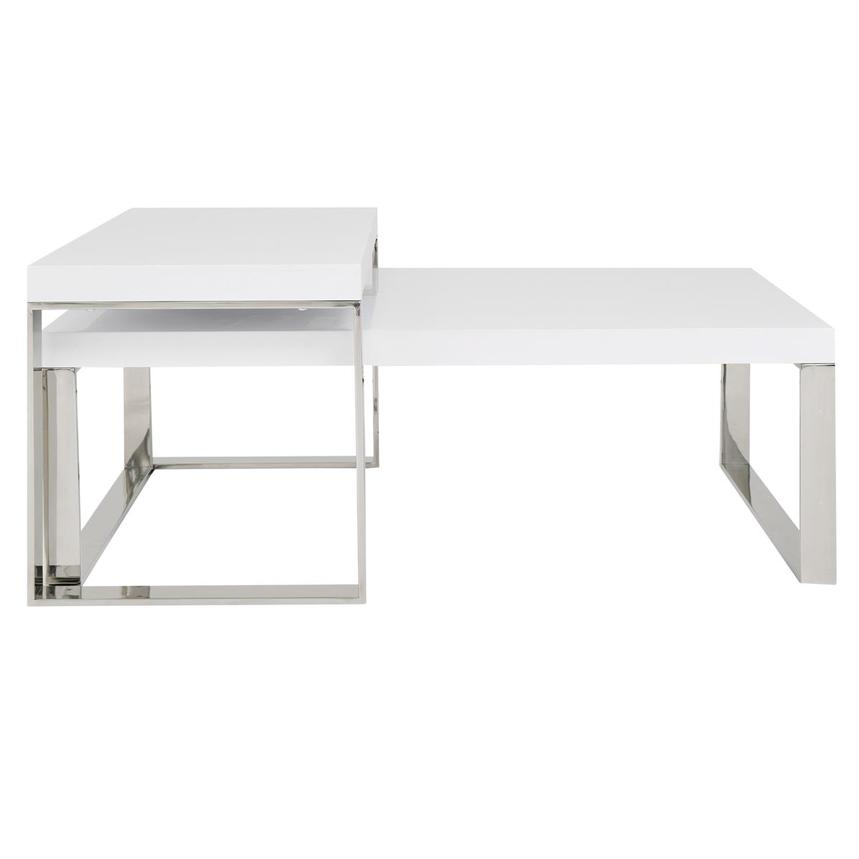 Palomari White Coffee Table Set Of 2 Main Image, 1 Of 6 Images.
