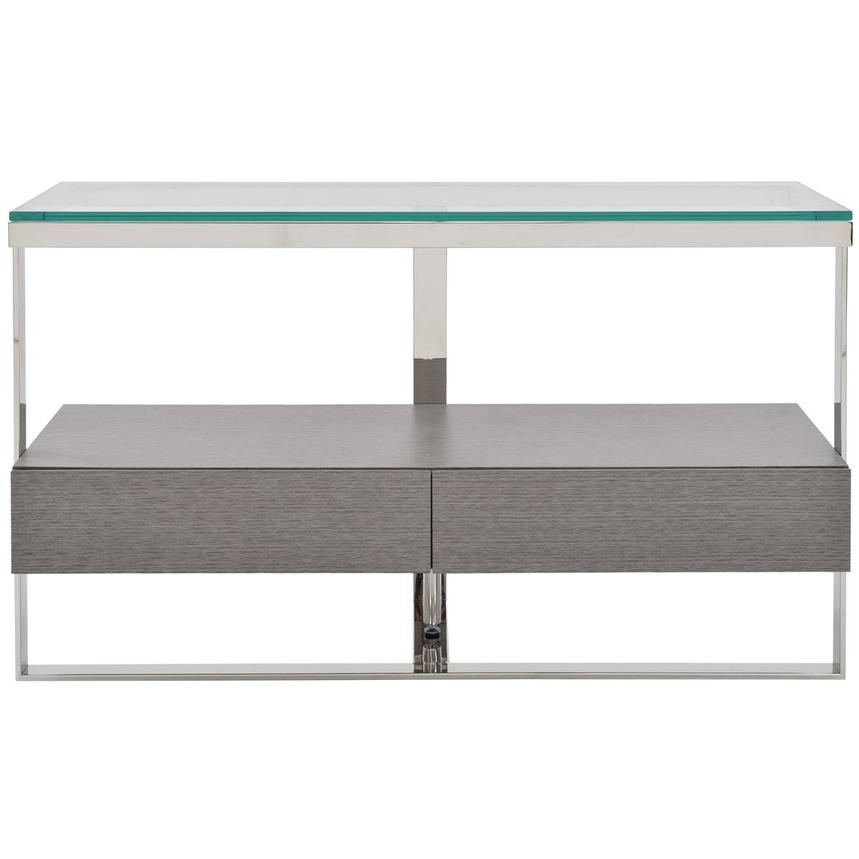 Calypso Matte Gray Console Table  main image, 1 of 8 images.