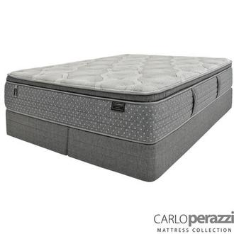 Caprice King Mattress w/Low Foundation by Carlo Perazzi