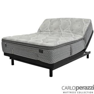 Caprice King Mattress w/Essentials III Powered Base by Serta